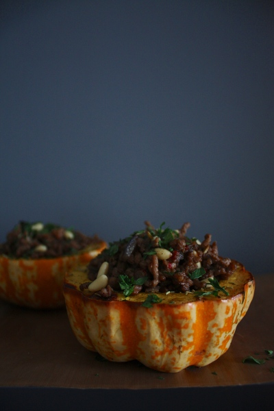 Roasted Pumpkin with Honeyed Lamb